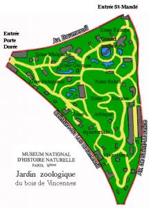 Plan Zoo Paris Vincennes