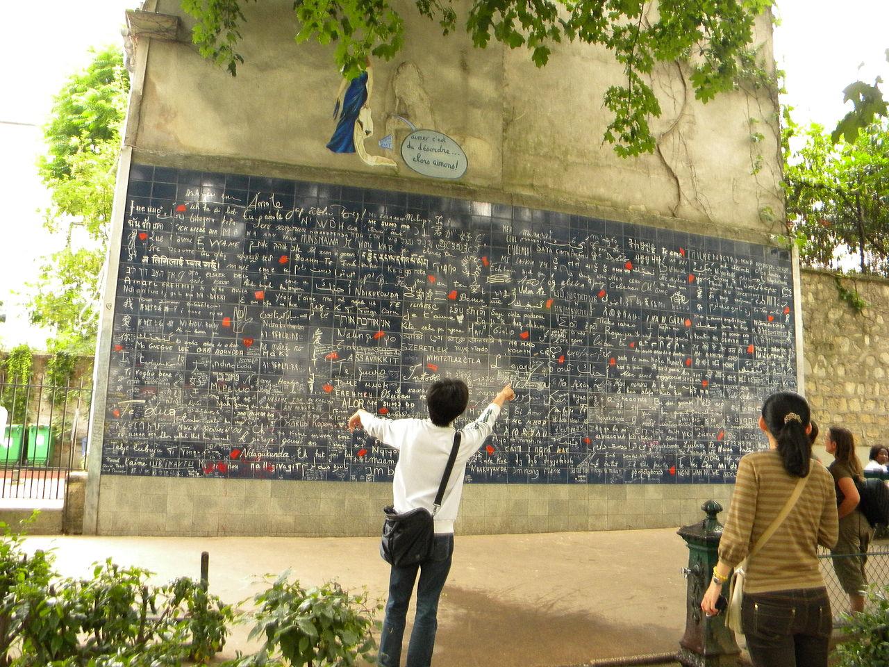 Die Je t'aime Mauer in Montmartre