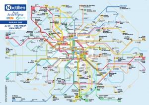 Einfacher Plan Nachtbus Paris