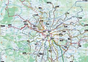 Plan Nachtbus Paris mit Straßen