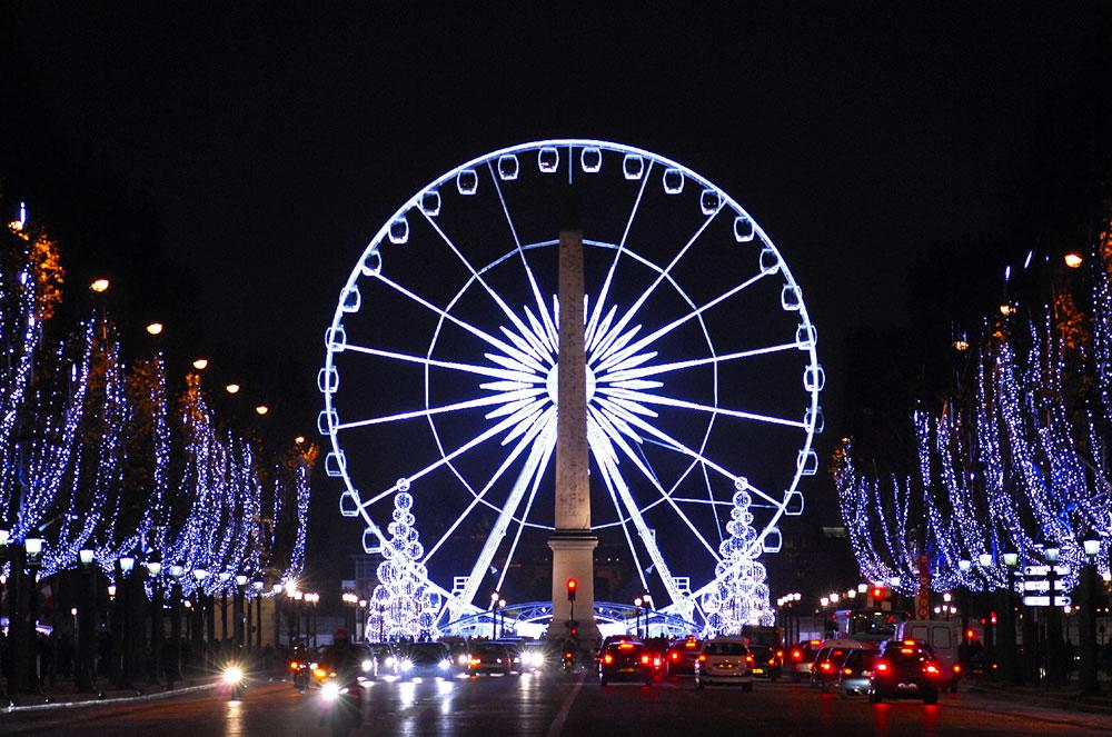 Weihnachtsbeleuchtung Champs-Elysées