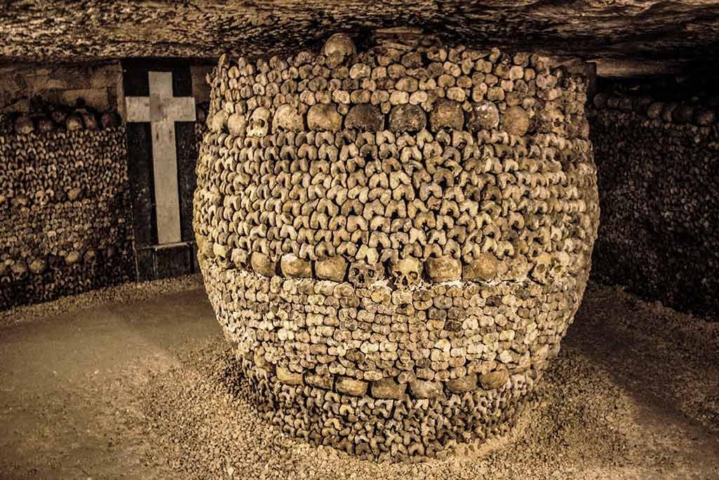 Knochen Katakomben Paris