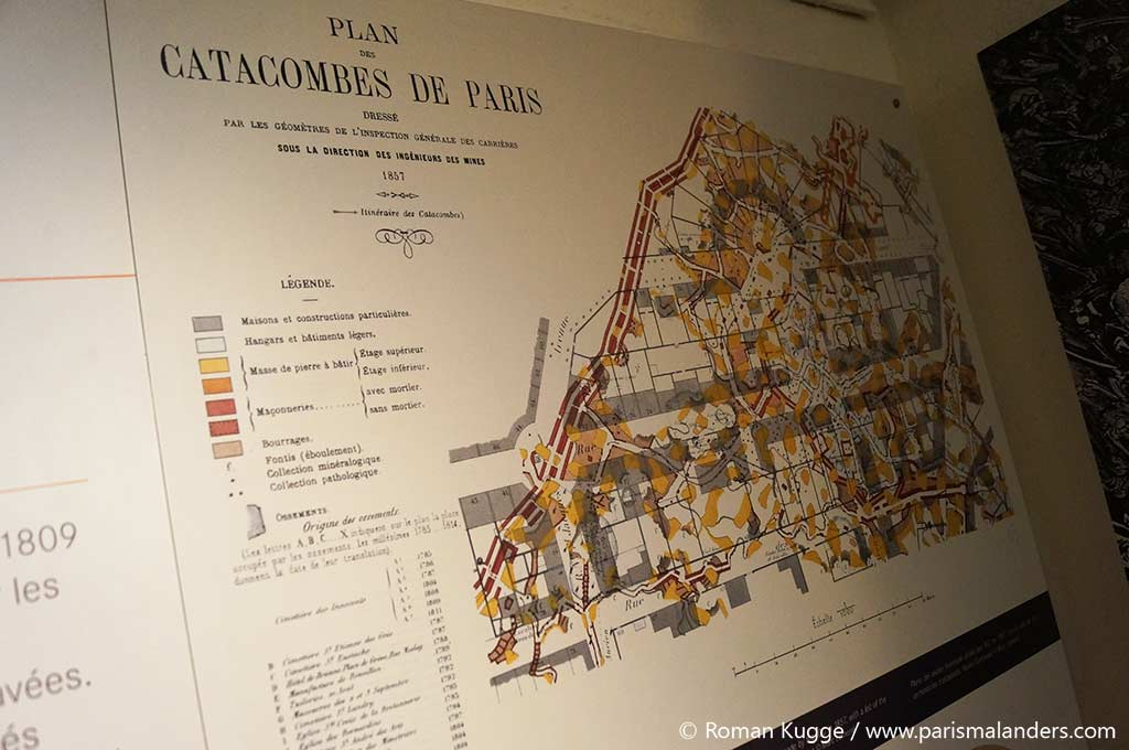 Plan Katakomben Paris