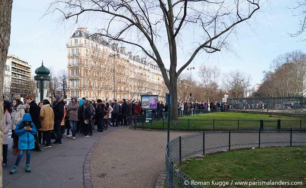 Wartezeiten Warteschlange Katakomben Paris