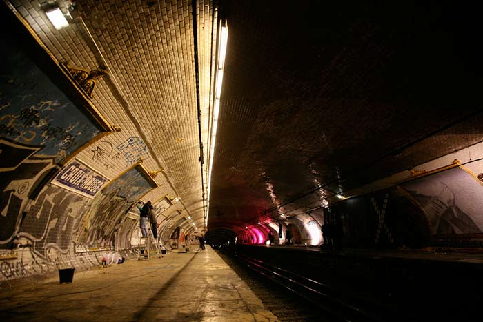 Geisterstation Croix Rouge Metro Paris