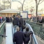 Paris Rolltreppe Metro