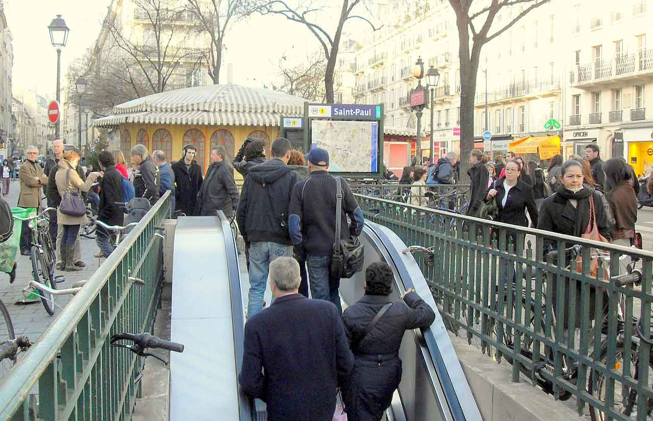 Paris Metro Streik Rush Hour Voll