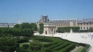 Cruising in den schwulen Gärten des Louvre in Paris