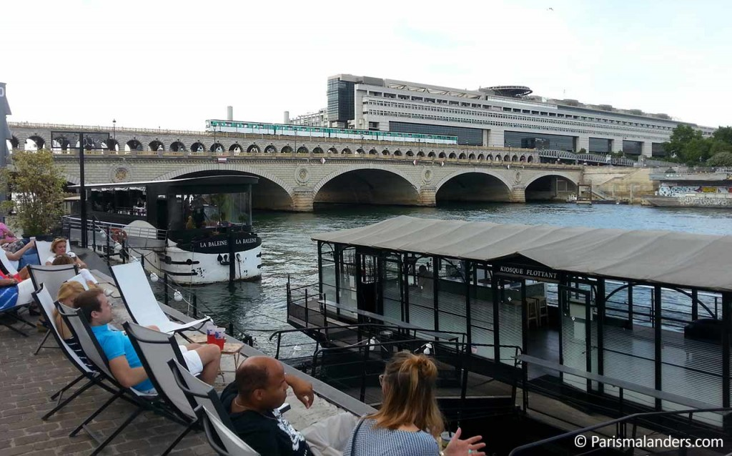 Seine Ufer Liegestühle Quai de la Gare