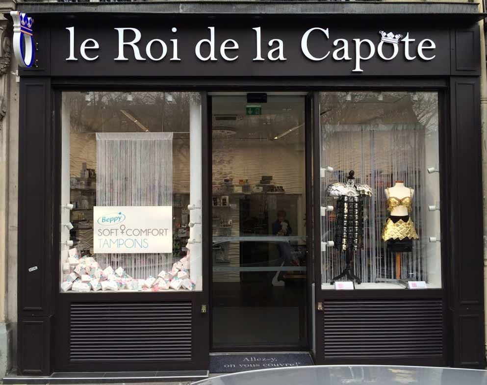 Kondomgeschaeft Roi de la Capote Paris