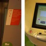 Ticketautomaten Paris Metro Bildschirm