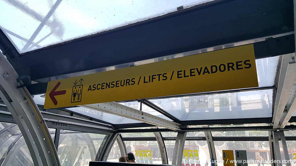 Centre Pompidou behindertengerecht Aufzüge