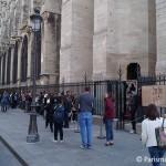 Eingang Tuerme Notre Dame Paris