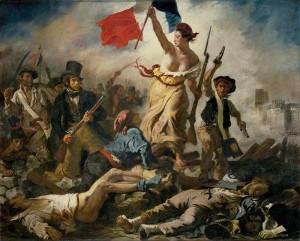 Die Freiheit fuehrt das Volk Paris Delacroix