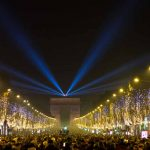 Silvester Neujahr Champs-Elysees Paris