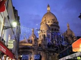 Weihnachten Paris Viertel Montmartre