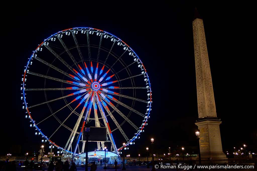 Weihnachtsmarkt Champs Elysees Paris Riesenrad