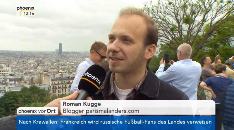Roman Kugge Paris Mal Anders TV Interview Phoenix