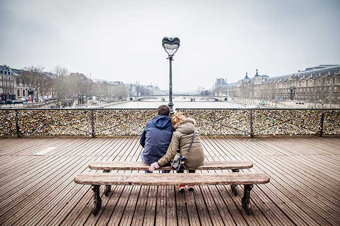 Valentinstag in Paris