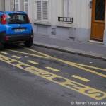 Lieferparkplatz Paris gestrichelte Linie