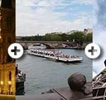 Bootsfahrt und Louvre und Eiffelturm