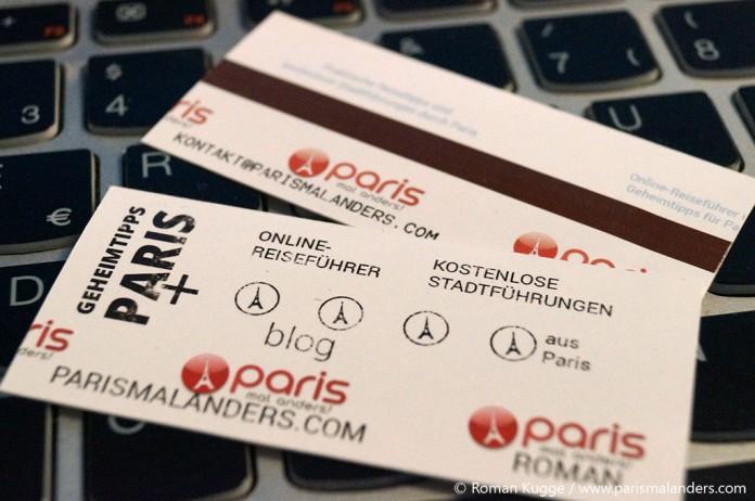 Visitenkarte Paris Metro Ticket