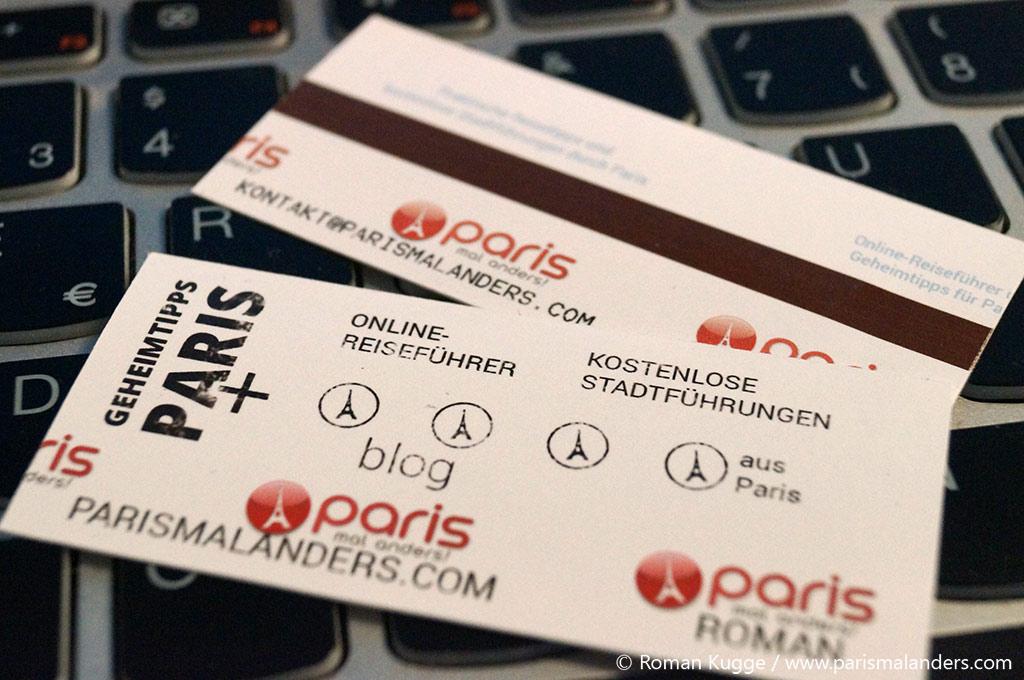 Visitenkarte Blog Paris mal anders