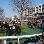 Pferderennen Paris Praesentationsrunde