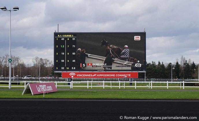 Vincennes Rennbahn Bildschirm