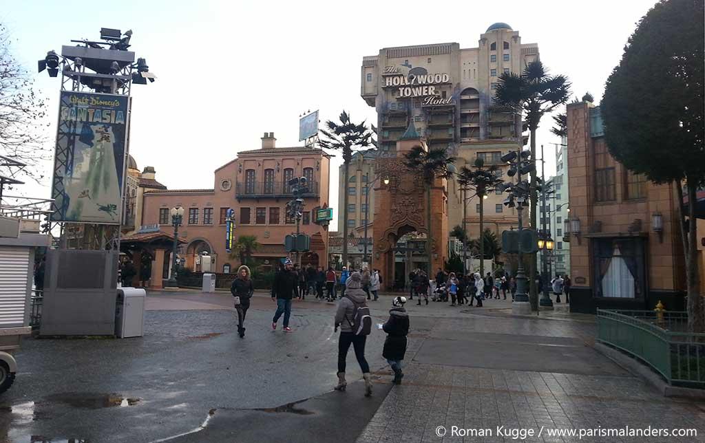 Disneyland Paris bei Regen