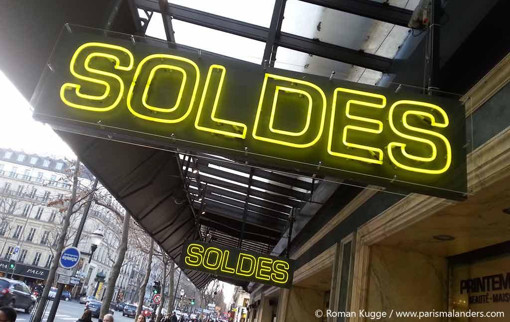 Soldes Schlussverkauf in Paris