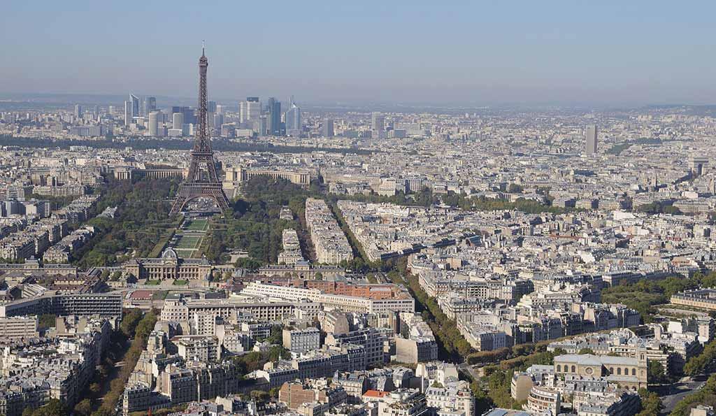 Eiffelturm Tour Montparnasse Blick
