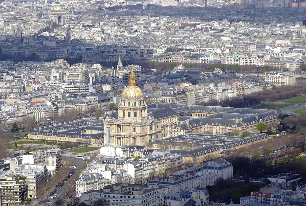 Blick Invalidendom Triumphbogen Tour Montparnasse