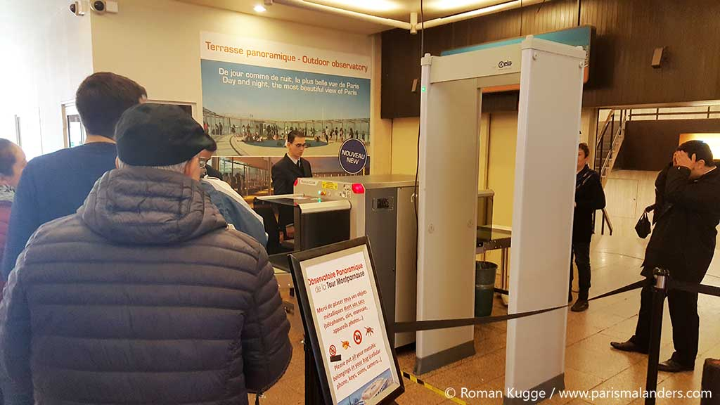 Sicherheitskontrolle Tour Montparnasse Turm