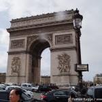 Verkehrschaos Triumphbogen Place Charles de Gaulle