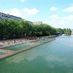 Baden im Bassin de la Villette Paris