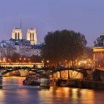 Brücke Pont des Arts in Paris