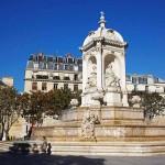 Brunnen Saint Sulpice Vier Bischoefe Paris