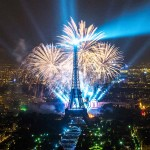 Feuerwerk Nationalfeiertag Eiffelturm Paris