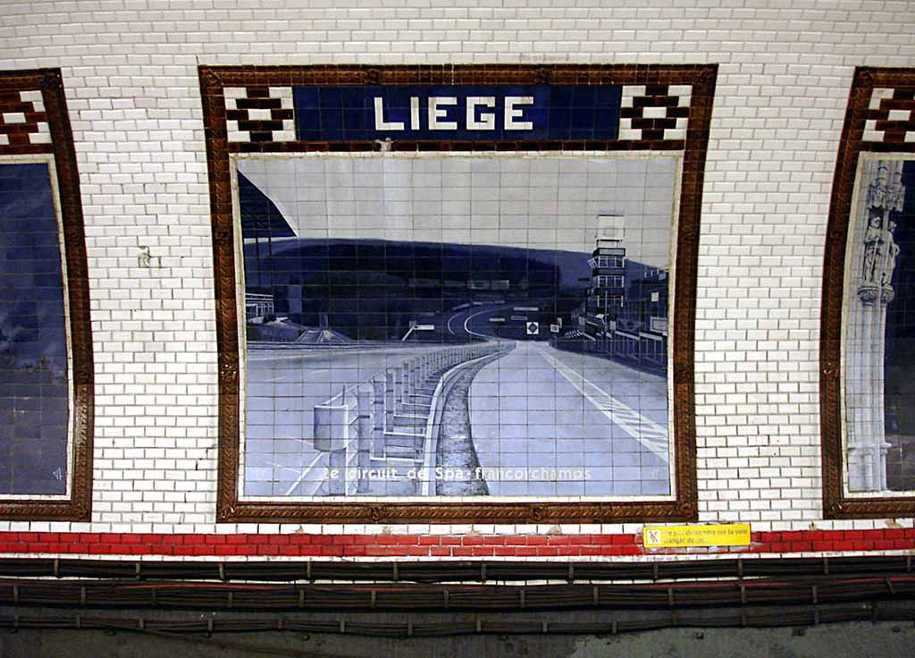 Metrostation Liege Paris