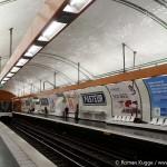 Metrostation Paris Pasteur Kacheln Fliesen Metrofliesen