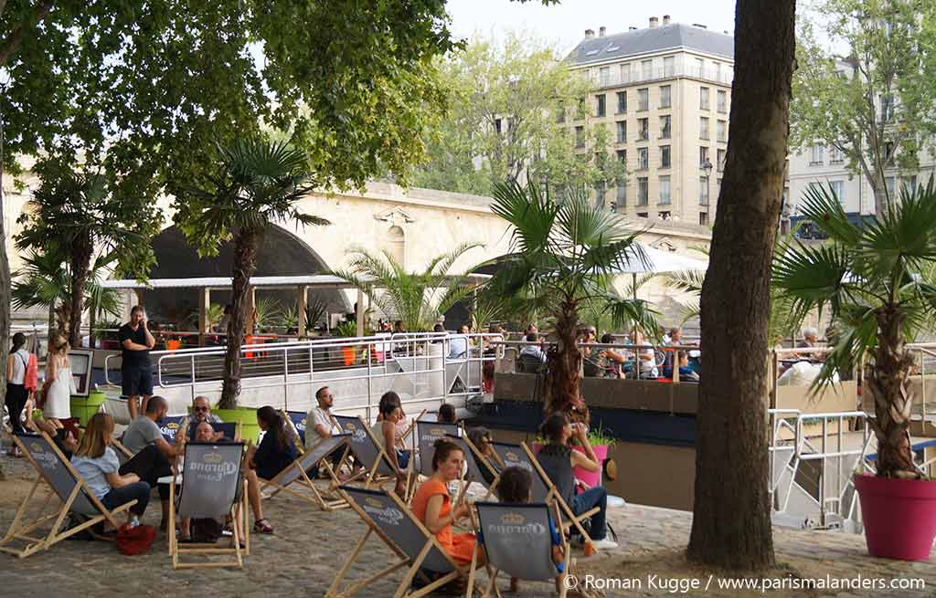 Paris Plages Stadtstrand Paris Boot