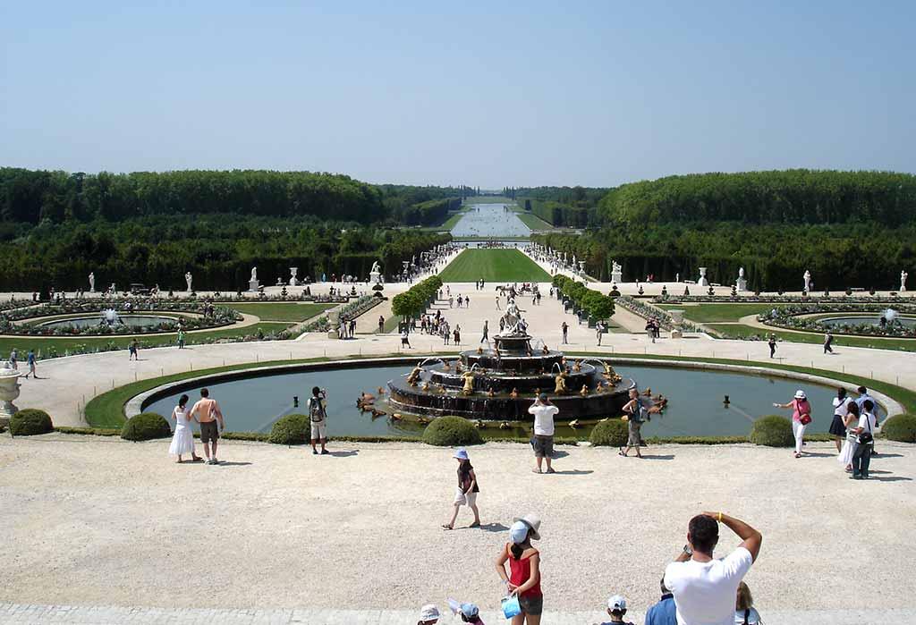 Park in Versailles Garten Schloss