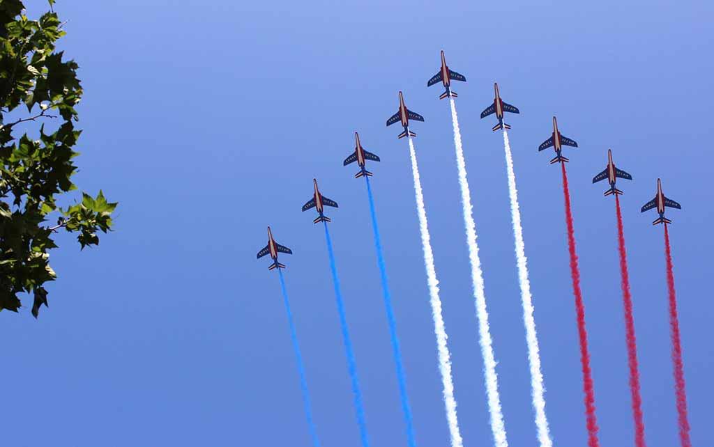 Patrouille de France Nationalfeiertag Paris 14 Juli