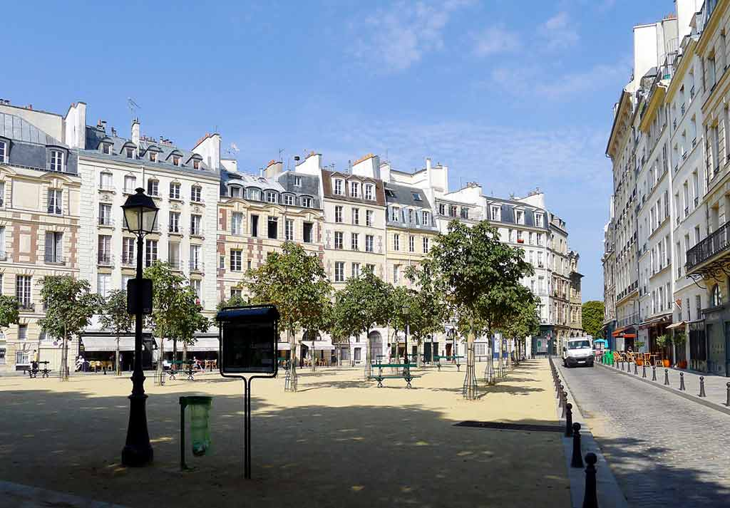 Place Dauphine in Paris Platz