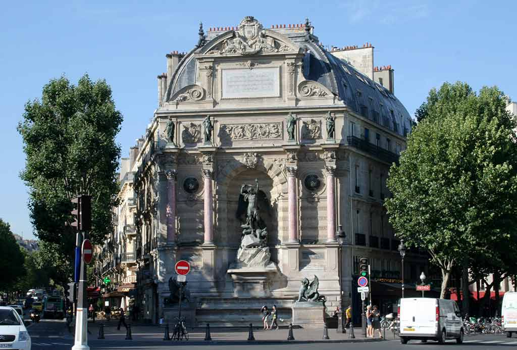 Saint-Michel Brunnen Fontaine Paris