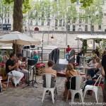 Stadtstrand Paris Plages Bar Live Musik