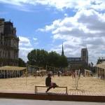 Stadtstrand Paris Plages Rathaus Hotel de Ville