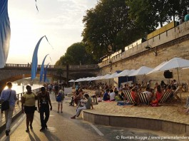 Stadtstrand Sommer Paris