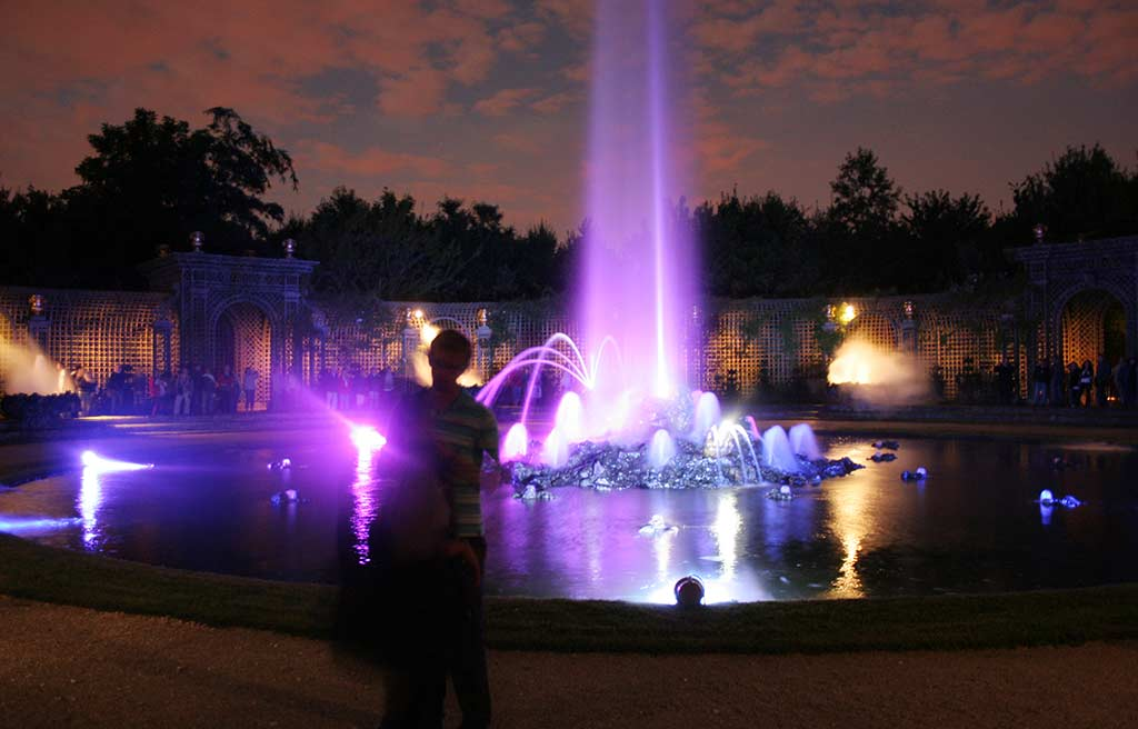 Wasserspiel Versailles Nachts Feuerwerk